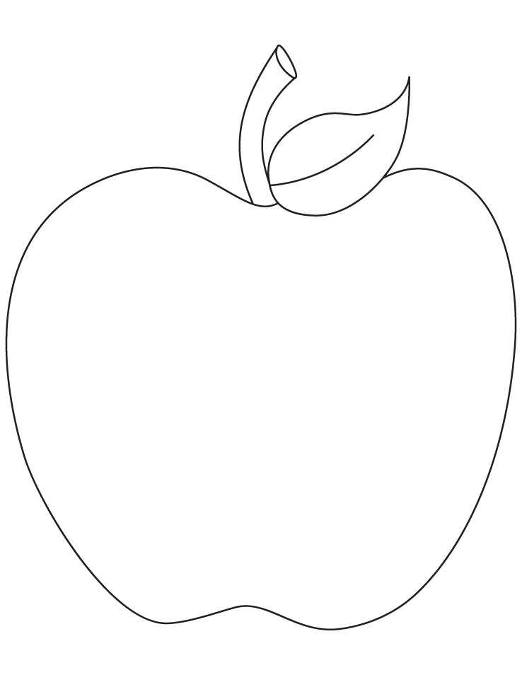 Free coloring pages of manzana apple for Colores para pintar