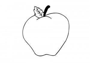 dibujos para colorear de manzanas