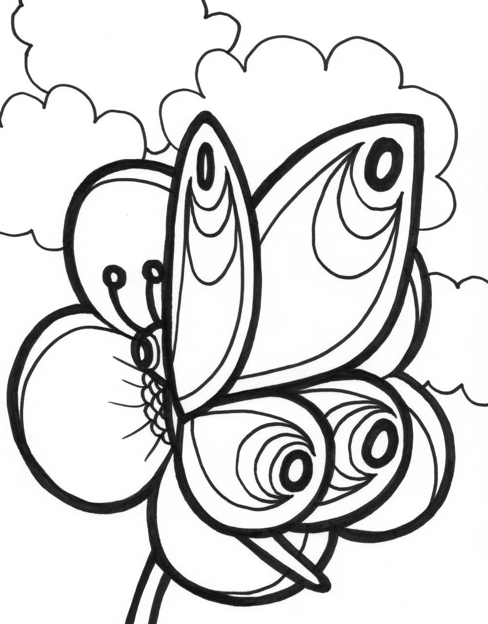 imagnes para pintar mariposas