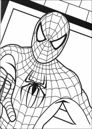 dibujos para pintar de spiderman