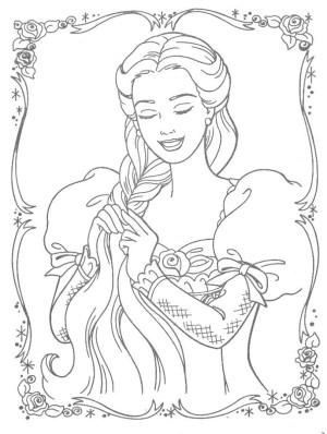 dibujos colorear rapunzel