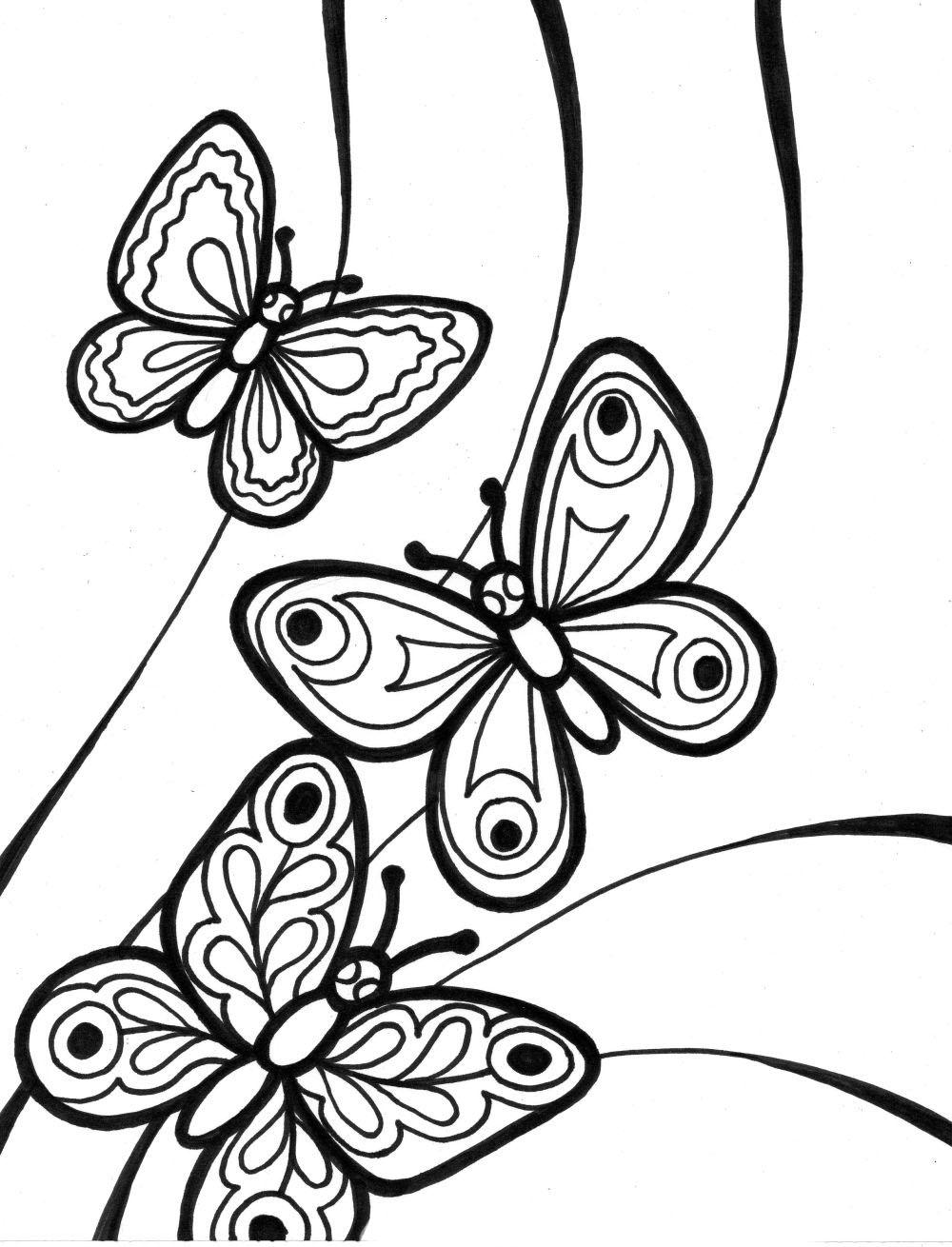 dibujos mariposas para colorear