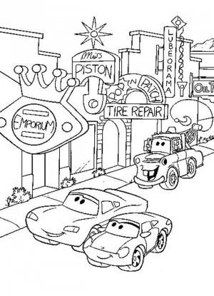 cars character coloring pages - photo#21