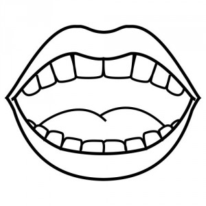 mouth template for preschool - boca para colorear pintar e imprimir