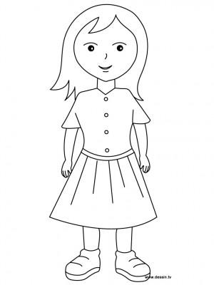 Dibujos De Niña Para Colorear