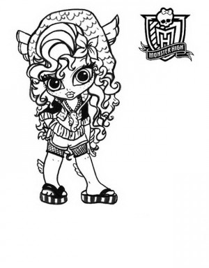 dibujos de monster high para imprimir y colorear
