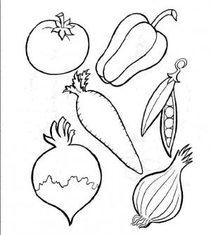 frutas y verduras para colorear