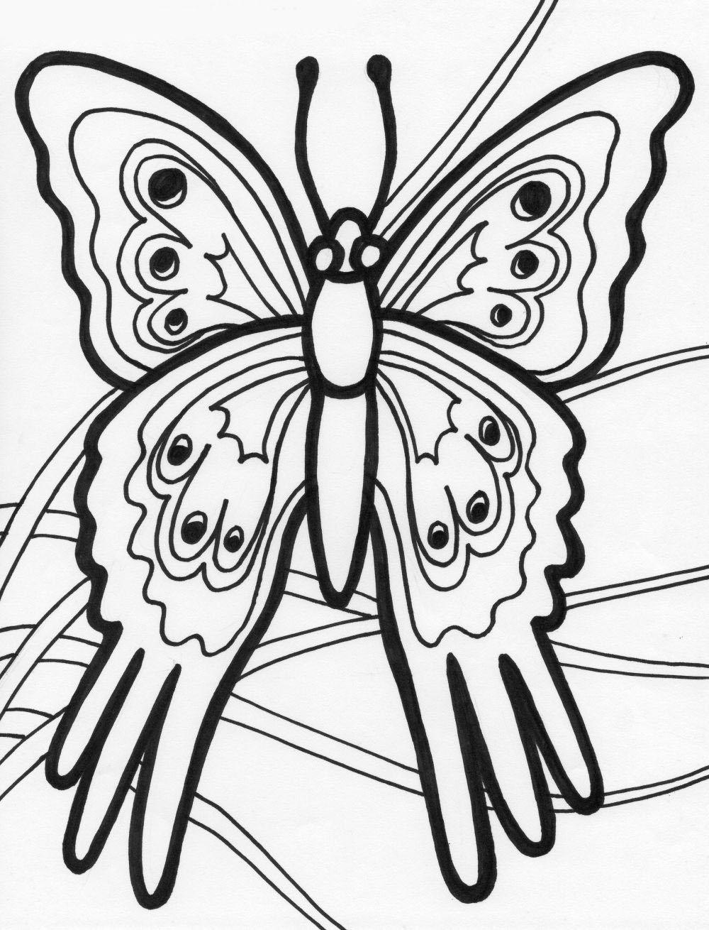 juegos de pintar una mariposa