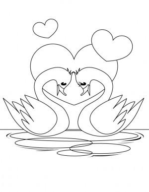 dibujo de cisne para colorear