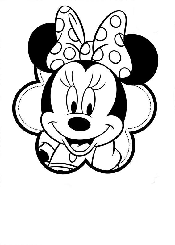 Minnie para colorear, pintar e imprimir
