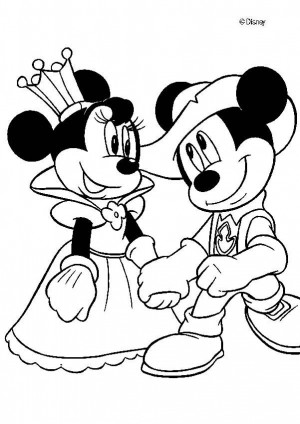 mickey mouse y minnie para colorear