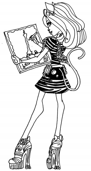 dibujo catrinedemew monster high para colorear