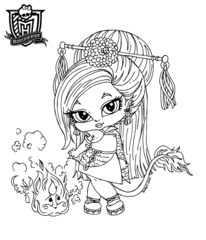 jinafire long baby monster high para colorear