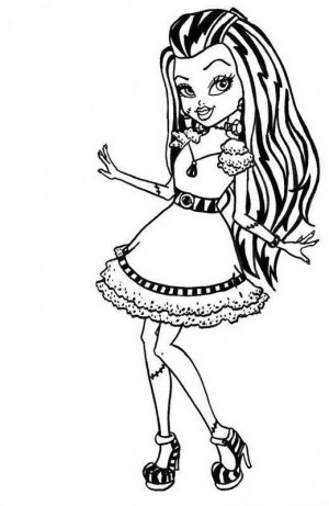 Cute Frankie Stein Monster High para colorear