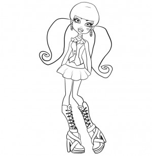 dibujos monster high para colorear