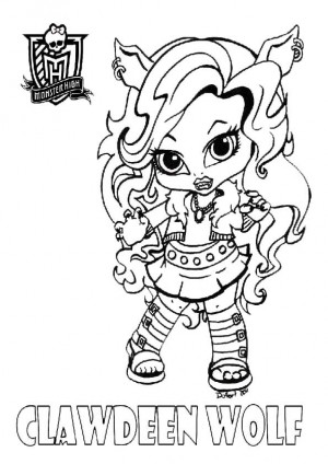 monster high clawdeen pintar