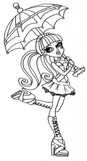 muñecas monster high para colorear