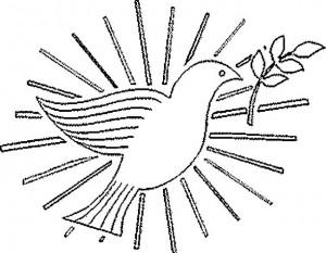 paloma blanca para colorear