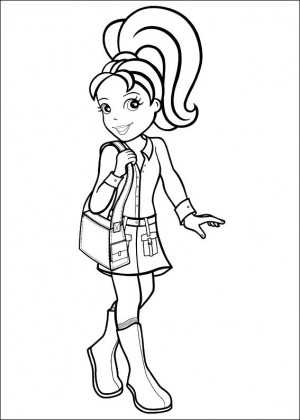 polly pocket para colorear