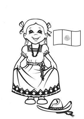 dibujos de la bandera de mexico para colorear