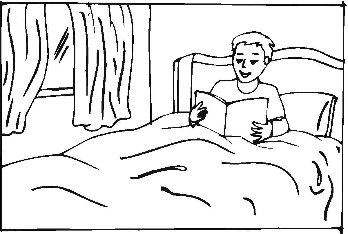 cama colorear