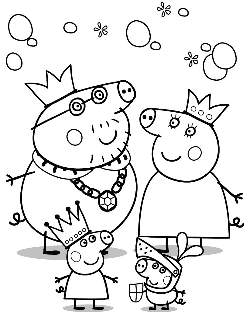 Peppa Pig Colouring Pages : Peppa pig sugar colouring pages