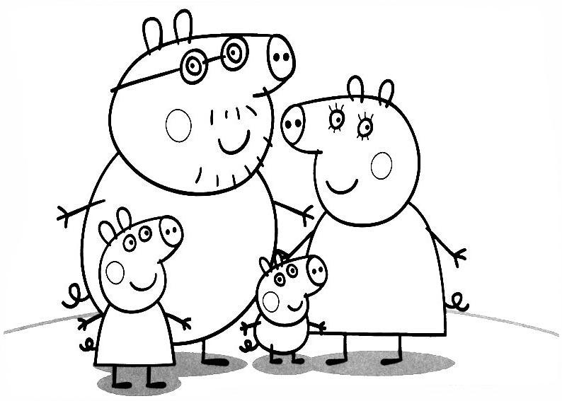 Peppa Pig para colorear pintar e imprimir