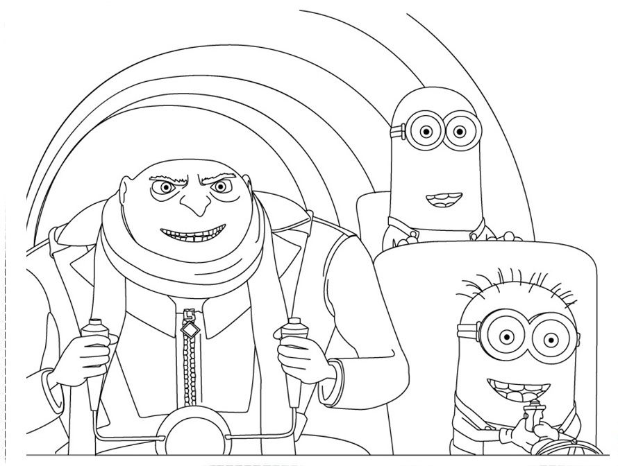 Kirby Buckets Coloring Pages Gru mi Villano Favorito