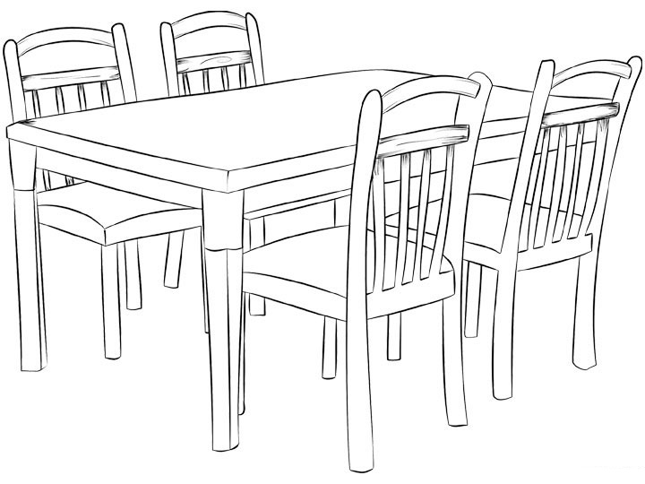 Mesa para colorear pintar e imprimir for Disegni mobili casa