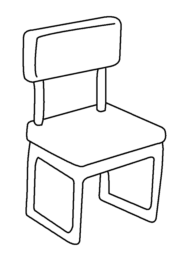 School chair coloring page for Sillas para colorear