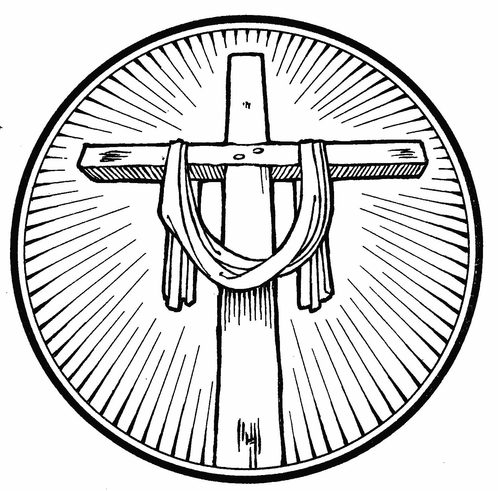 imagenes de cruz para colorear
