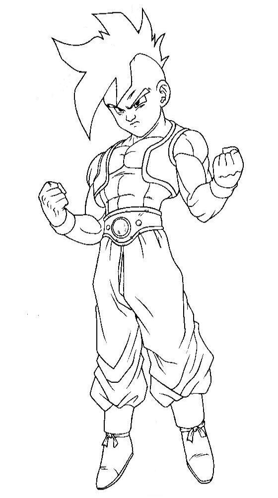 Dragon Ball Z para colorear, pintar e imprimir
