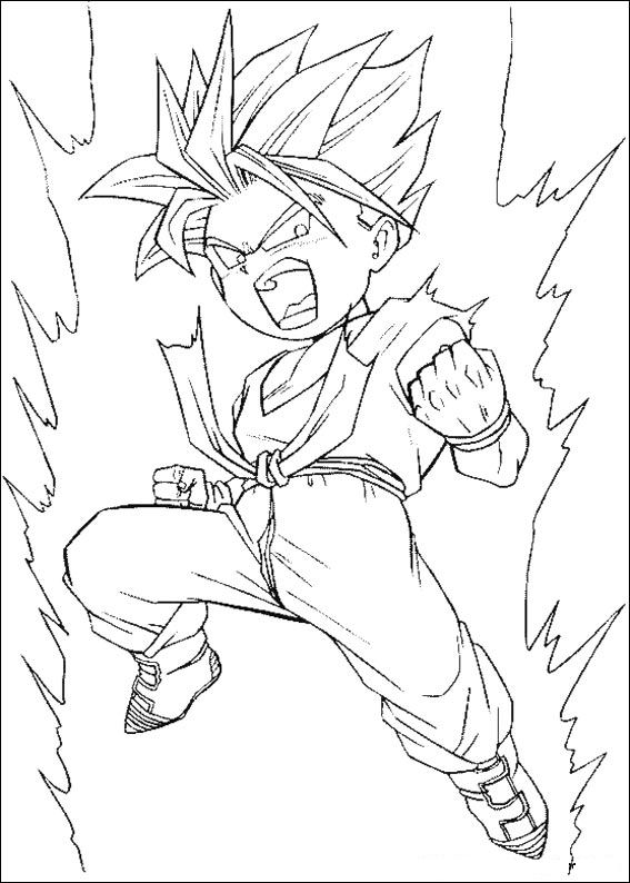 imagenes de dragon ball gt para colorear
