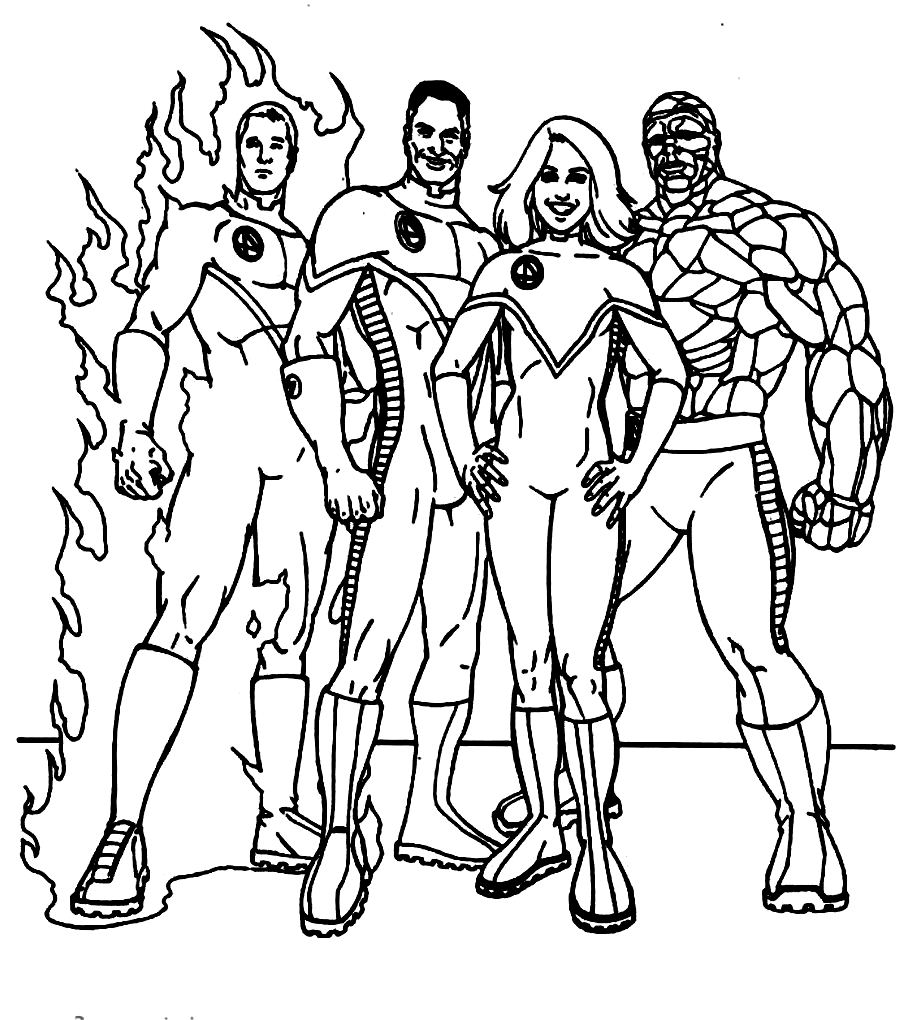 Image Dibujos Para Colorear Los 4 Fantasticos Download Fantastic 4 Coloring Pages