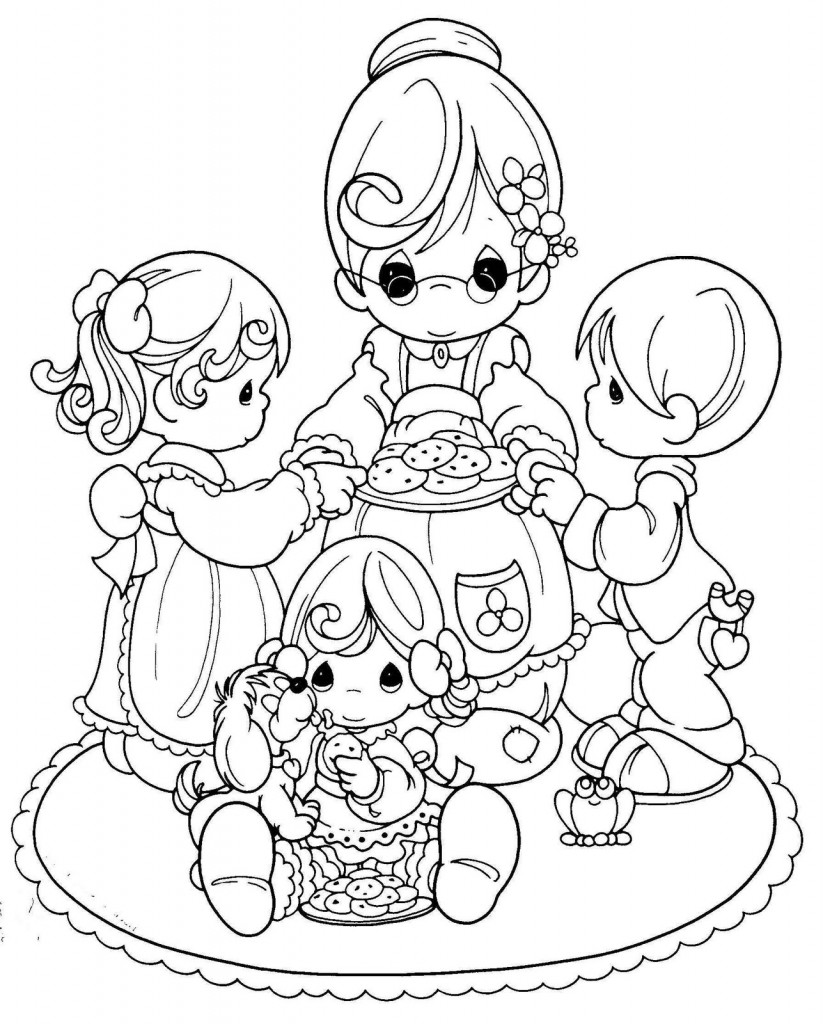 Dia de las madres para colorear for Precious moments coloring page