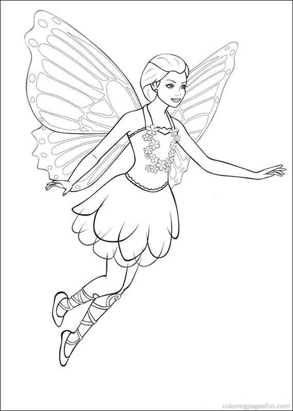 barbie mariposa imprimir