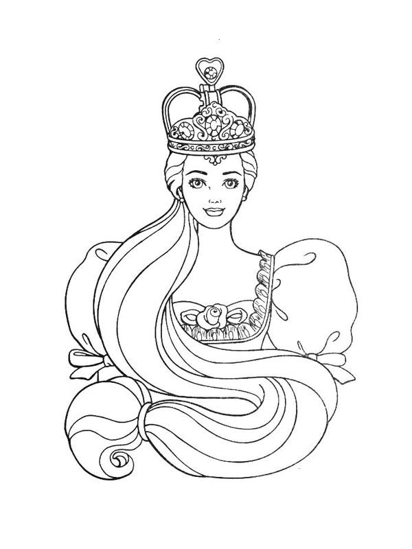barbie princesa para colorear e pintar