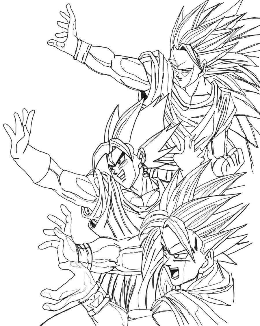 Goku para colorear, pintar e imprimir