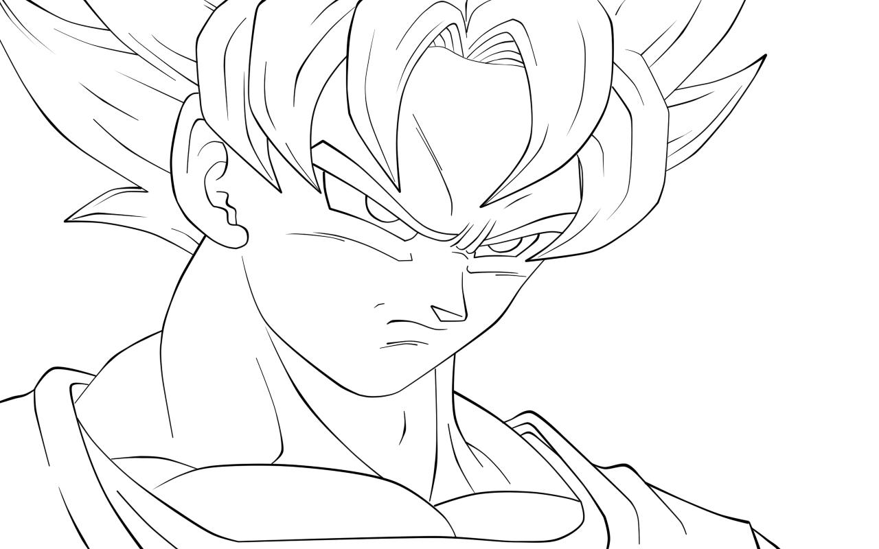 Fotos Para Colorear De Goku En Todas Sus Fases: Goku Para Colorear, Pintar E Imprimir