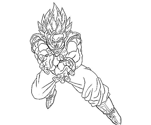 Free coloring pages of goku face 8