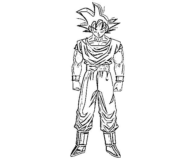 Todas Las Fases De Goku Para Colorear: Goku Para Colorear, Pintar E Imprimir