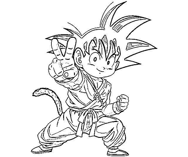 Dibujo De Goku Y Vegeta Para Imprimir Y Colorear: Goku Para Colorear, Pintar E Imprimir