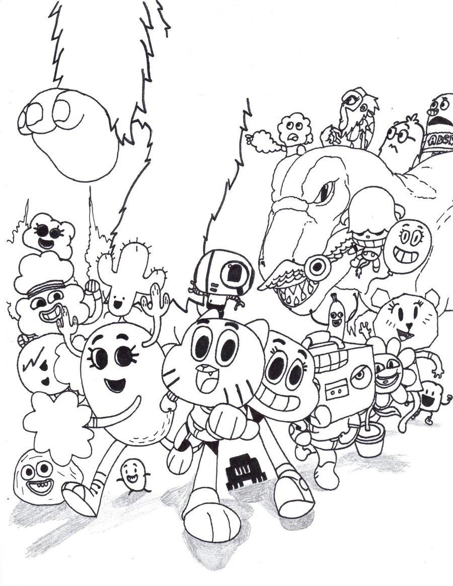 personajes de gumball para pintar