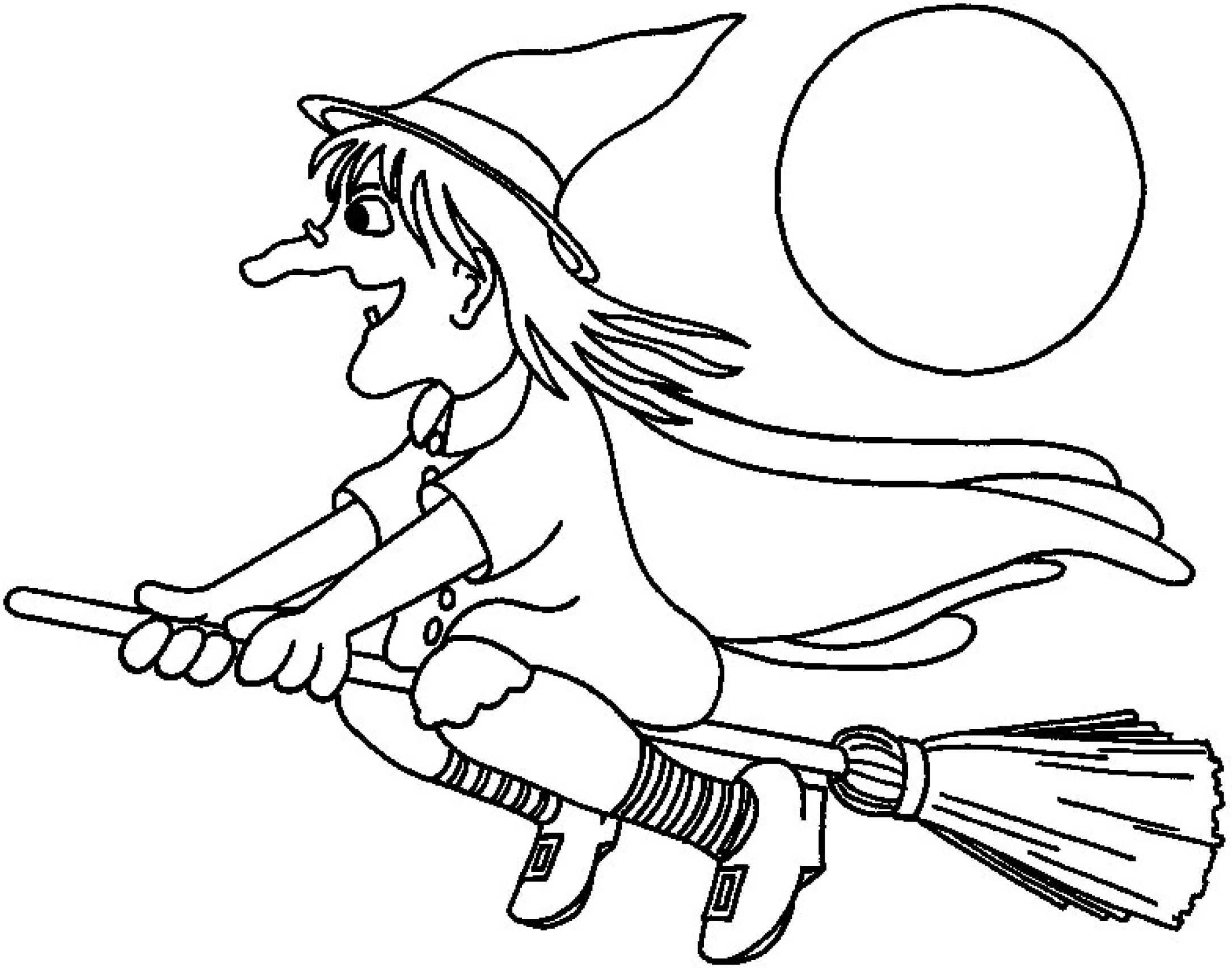 free halloween coloring pag...