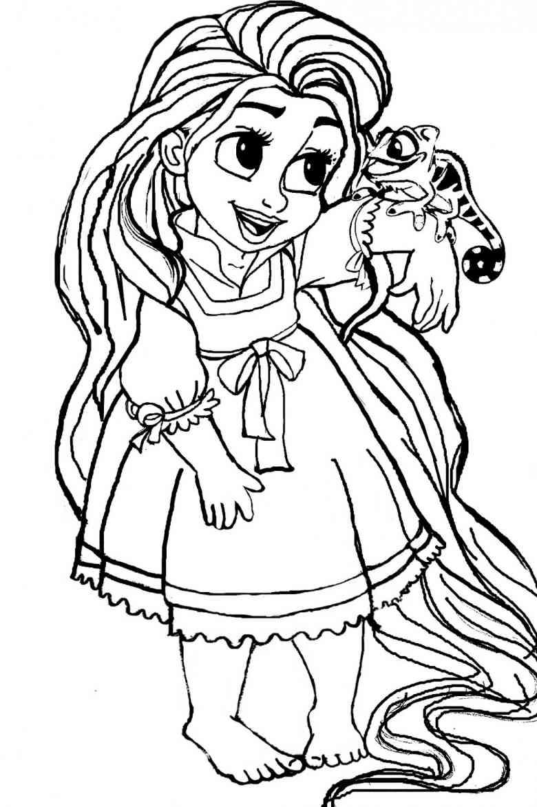 dibujos para colorear de princesas bebes