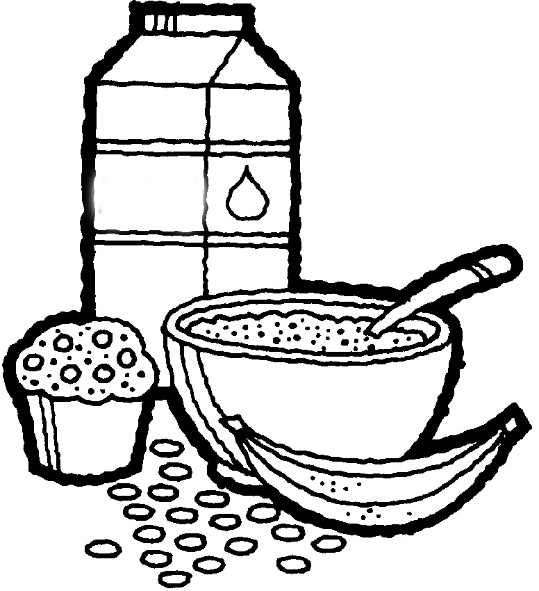 bowl of cereal coloring pages - photo#17