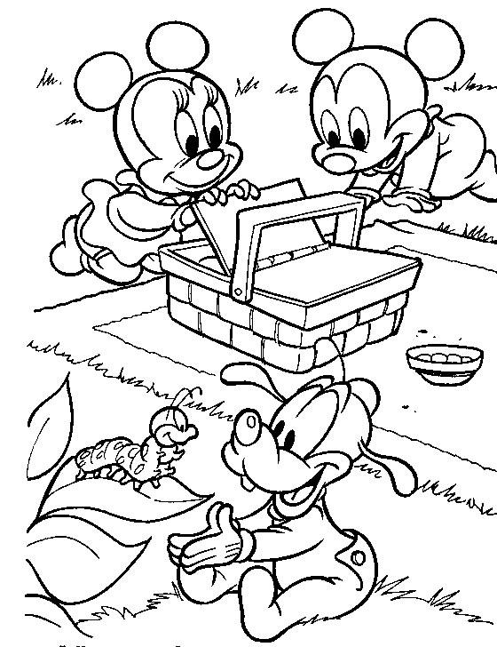 mickey mouse bebe para colorear
