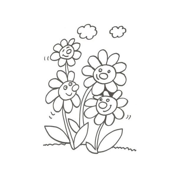 flores primaverales para pintar