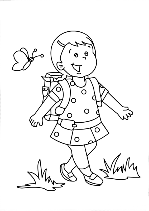 my first school coloring pages - photo#28