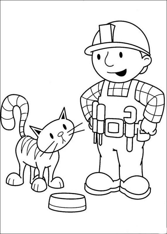 bob constructor para colorear